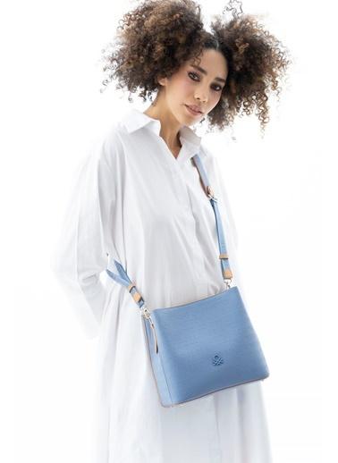 Benetton Messenger / Askılı Çanta Mavi